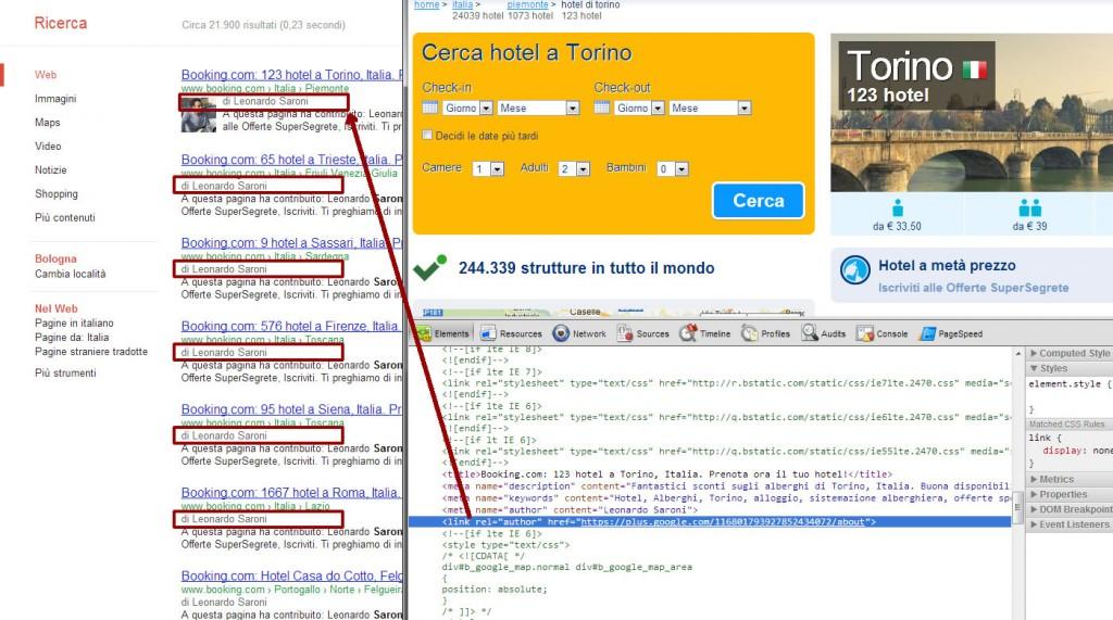 Authorship spam booking.com