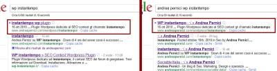Google SERP cambiano