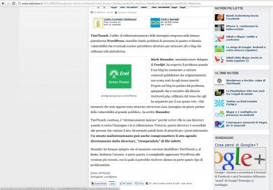Wordpress webnews